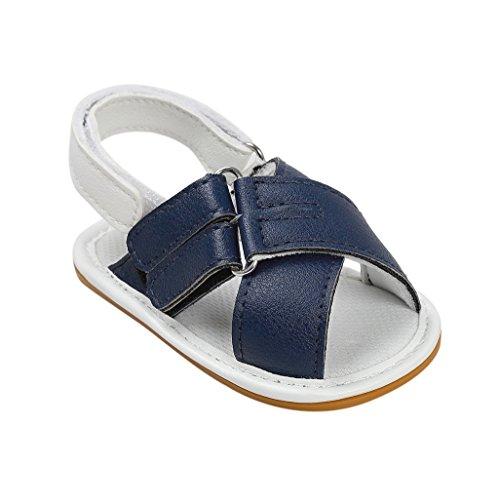 Baby Schuhe Auxma Baby Jungen Mädchen Mode Schuhe First Walking Schuhe Sandalen für 3-18 Monate (3-6 M, Blau) Blau