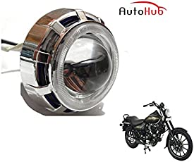Auto Hub COB LED Projector Bike Headlight for Bajaj Avenger 220 Street