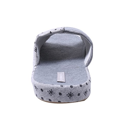 WILLIAM&KATE Unisex Erwachsene Flache Hausschuhe Skidproof Haus Indoor Pantoffeln Slippers für Familie White+Grey