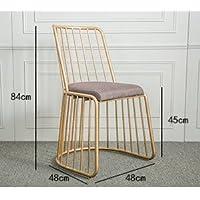 Oro moderno ferro battuto sedia da pranzo