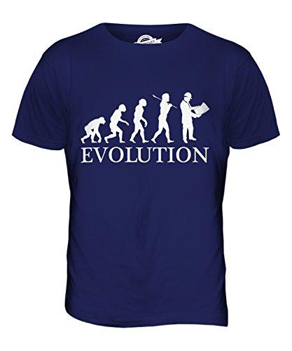 CandyMix Vermessung Landvermesser Evolution Des Menschen Herren T Shirt Navy Blau