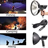ELECTROPRIME Waterproof Spotlights Handheld Hunting Fishing IP56 12V 100W LED Camping Xenon