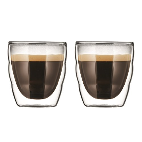 Bodum - 11477-10 - Pilatus - Set de 2 Verres Double Espresso - 8 cl