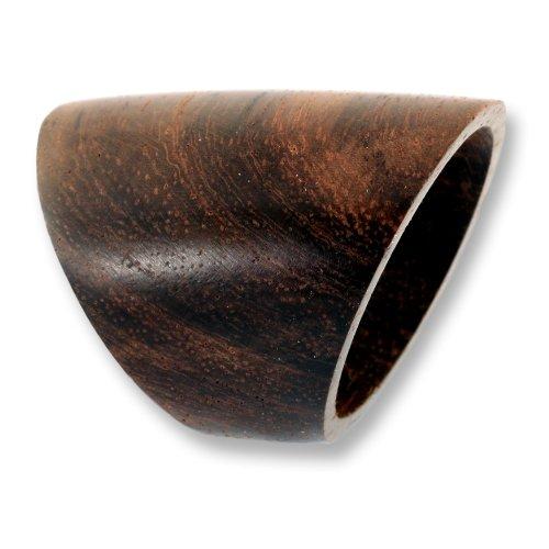 ISLAND PIERCINGS Design Ring aus Holz brauner länglicher Holzring Handarbeit AR020-21mm