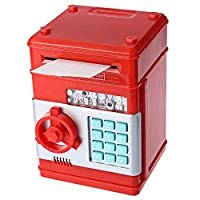 Kids Mini Electronic Money Bank Coin Cash Saving Box,RED