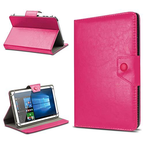 UC-Express Tasche Schutz Hülle für TrekStor SurfTab xintron i 10.1 Tablet Case Stand Cover Farbauswahl, Farben:Pink, Tablet Modell für:BLAUPUNKT Endeavour 1000 WS