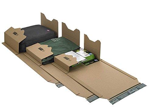 60 Stück Wickelkarton / Buch-Verpackung274x191x-80 mm Karton B5 universal selbstklebend