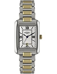 Rotary Mens Two Tone Rectangular Dial Watch GB02651-01