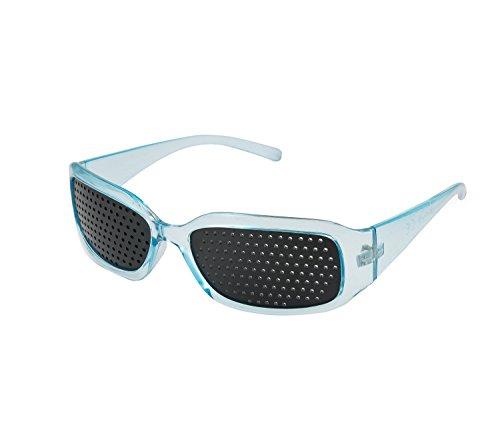 4sold Schwarz Sehvermögen Verbesserung Vision Care Übung Brillen Brille Marke 4sold Gr. One Size, Schwarz - Blue