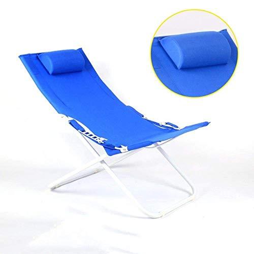 WJJJ Patio Stühle Für Kinder Mit Metall Rasenkissen Outdoor Reise Kompakte Klapp Strand Kipphocker Sitz (Farbe: Blau) - Teak Patio Möbel-sets