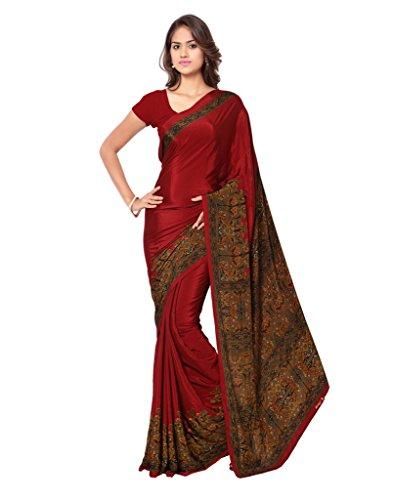 Ligalz Silk Saree (Silksaree_L0111328_Red)
