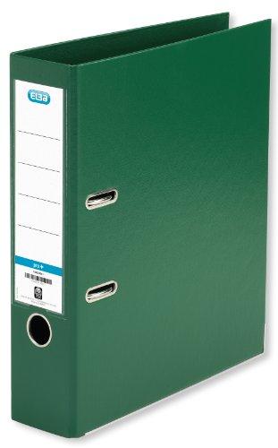 ELBA 100202174 Kunststoff-Ordner smart Pro+ 10er Pack 8 cm breit DIN A4 grün mit Einsteckrückenschild