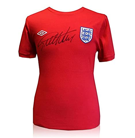 1966 England Umbro replica jersey t-shirt hand signed by Sir Geoff Hurst