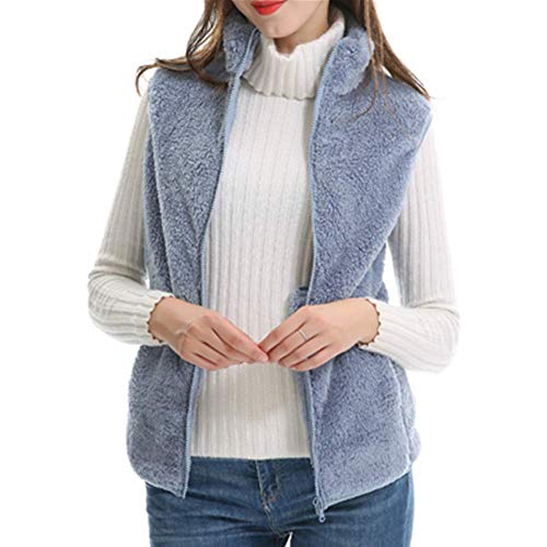KCatsy Mujer Gillet Chalequillo Capucha Sin Mangas