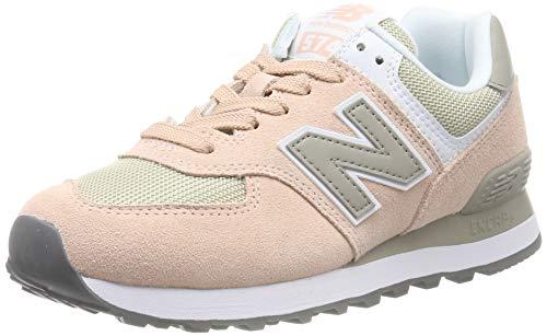 New Balance 574v2, Zapatillas para Mujer, Gris (Grey/Pink Grey/Pink), 35 EU