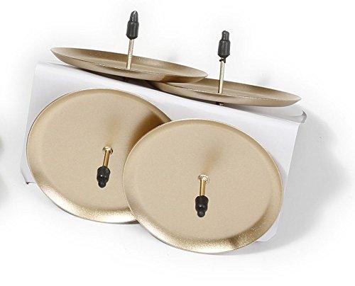 Kerzenstecker Kerzenhalterung Adventskranz Kerzenhalter Stecker DIY Kerzen (champagner matt 4 Stk 7,5cm)