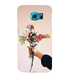 Fiobs Designer Back Case Cover for Samsung Galaxy S6 G920I :: Samsung Galaxy S6 G9200 G9208 G9208/Ss G9209 G920A G920F G920Fd G920S G920T (Flowers Flower Floral Flora In Hand Tight Love Bouquet)