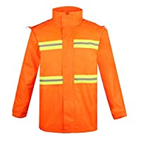 Rainy And Snowy Adult Orange Red Reflective Raincoat Waterproof Raincoat Jacket For Camping Outdoor Activities