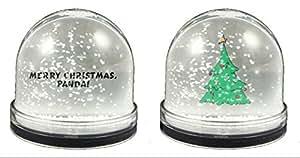 Personnalisé boule à neige avec inscription :  panda sHOPZEUS stylet