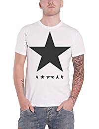 David Bowie T Shirt Blackstar Logo Album Cover Official Mens White