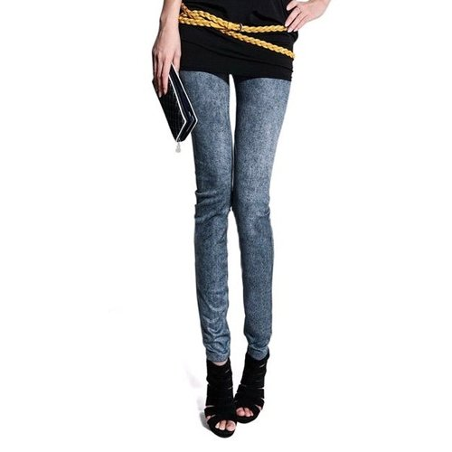 Preisvergleich Produktbild Frauen Denimjeans sexy Skinny Leggings Jeggings Strumpfhosen Stretch-Hosen-Hose - Blau