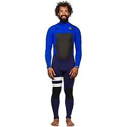Hurley - Combinaison Surf Néoprène Intégrale 3/2 Homme Fusion 302 Fullsuit - Racer Blue - Taille:ms