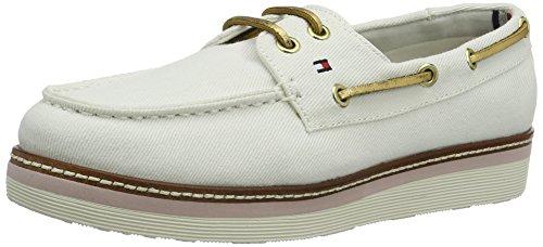 Tommy Hilfiger Damen M1285ACY 3D Bootsschuhe, Weiß (Whisper White 016), 41 EU