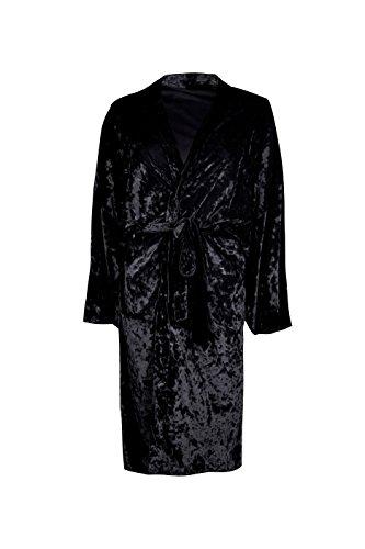 Femmes Noir Charlotte Kimono Surdimensionné En Velours À Ceinture Noir