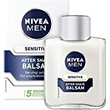 Nivea Men Sensitive After Shave balsem (100 ml), kalmerende aftershave, huidverzorging na het scheren met kamillle en vitamin