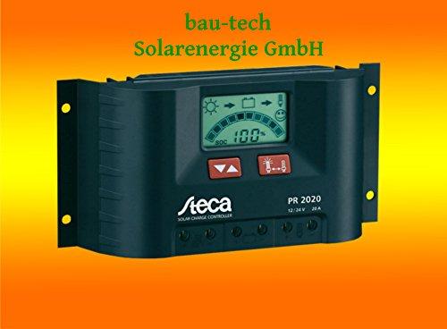 Steca PR2020 Solarladeregler mit LCD Display und Lastausgang für 12V Verbraucher bis 20A