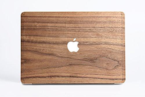 WOODWE Echtholz MacBook Skin für Pro 15 Zoll Non Retina Display | mit CD-Laufwerk; Modell: A1286; Ende 2008 – Mitte 2012 | Echtes & natürliches Walnuss Holz | Top&Bottom Aufkleber