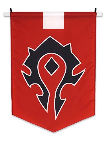 W Flagge Allianz oder Horde Banner WoW Fahne 60x95cm (Horden) ()