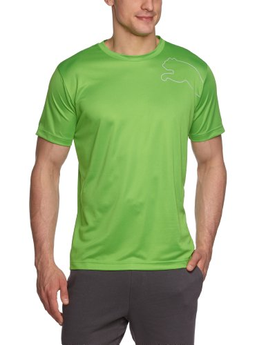 PUMA Herren T-Shirt Multi Poly Cat Tee, classic green-limestone, XL, 508806 12 (Print Tee Multi)