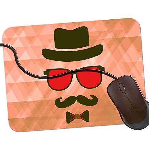 Gaming Mauspad Roter unsichtbarer Hippie-modischer Kerl Fransenfreie Ränder spezielle Oberfläche verbessert Geschwindigkeit und Präzision rutschfest 2K896