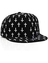 Underground Kulture Multi Cross Black Snapback Baseball Cap by Snapbacks