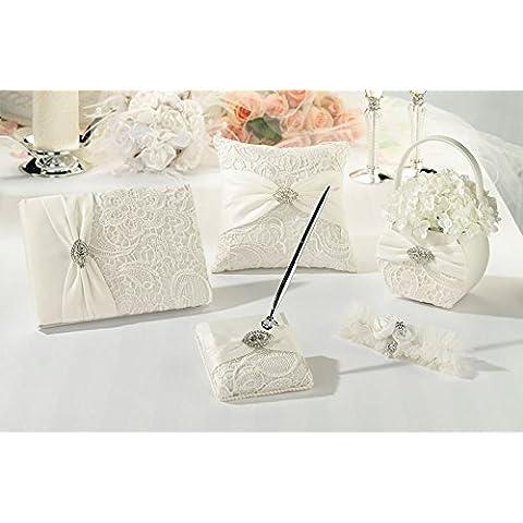 5 Pc Cerimonia di nozze cestino del fiore, Giarrettiera, Guest