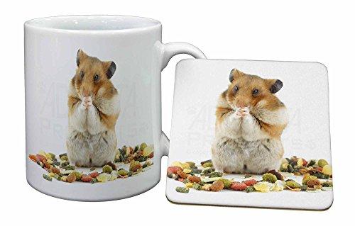 Advanta - Mug Coaster Set Lunch Box Hamster Becher und Untersetzer Tier Geschenk Mug Coaster Set