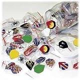 60 alette per freccette (20 pezzi) in vari colori e misure