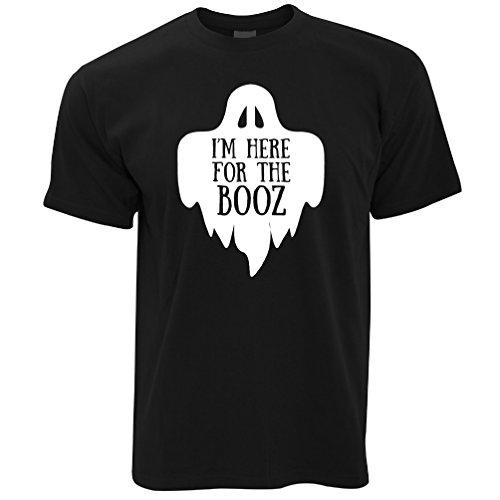 Neuheit Halloween T-Shirt Ich Bin Hier für den Booz-Witz Black ()