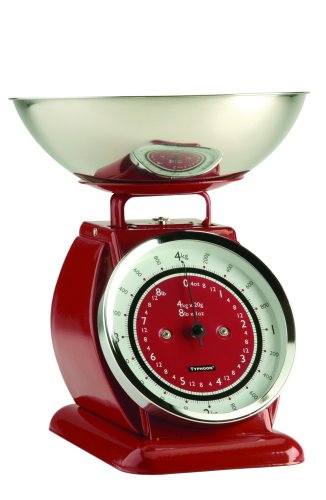 Typhoon Bella Job Steel Body Scale Red Stainless Steel Bowl 1400.004 Kitchen