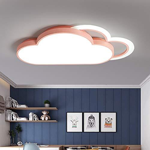 Henley plafoniera moderna per cameretta bambini, 36 w, 6000 k, led, design nuvola, illuminazione da soffitto per ragazzi e ragazze, lampada da soffitto per camera da letto pink