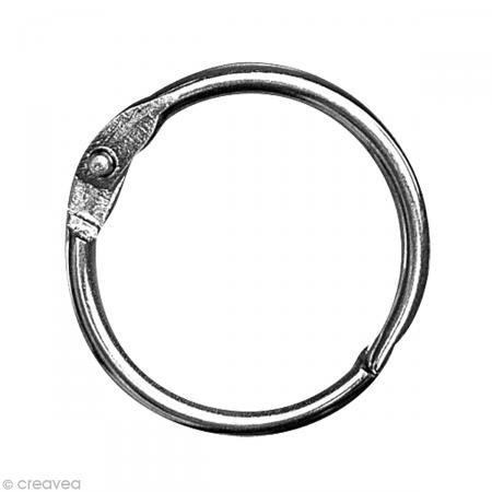 Rayher Hobby 2520400  Metallringe zum Öffnen, 25 mm Durchmesser innen, SB-Beutel 10  Stück