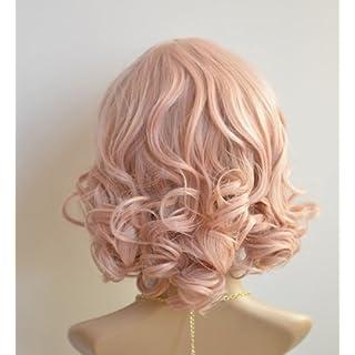 X&Y ANGEL- New Kanekalon Short BOB Style Wavy Heat Resistant Kanekalon Hair Wig Wigs Pink K066
