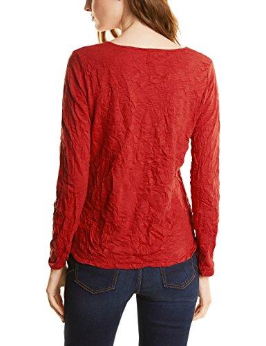 Street One Crash V-Neck T-Shirt, Maglietta a Maniche Lunghe Donna Orange (Baked Orange 11083)