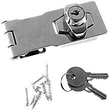 Cerrojo de Seguridad de Puerta, Gabinete, Armario, Compuerta, Pestillo & Grapa -