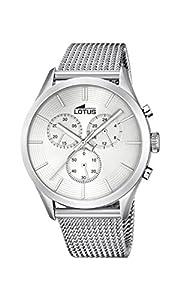 Lotus 18117/1 - Reloj de pulsera hombre, Acero inoxidable, color Plateado