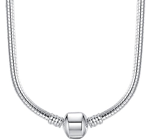 SaySure - 45CM Silver Snake Chain Necklace Pendant Fit Original