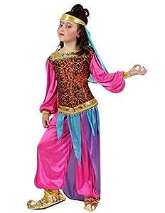 Atosa-10659 Atosa-10659-Disfraz Arabe-Infantil 3 a 4 años- Niña- fúcsia, Color (10659)