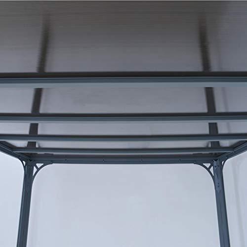 Aluminium Pavillon Überdachung Gazebo Milano 300 308x308 cm // Sommer-Pavillon und Garrtenpavillon mit 6mm Doppelstegplatten - 3
