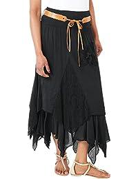 KRISP® Femmes Jupe Maxi Longue Crochet Dentelle Boho Chic